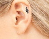 Cartilage Earring , Helix Pierceing , tragus earring , Trable clef Helix /Tragus Earring , cartilage piercing , helix jewelry ,