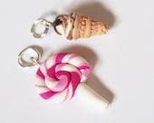Lollipop Stitch Marker Ice Cream Stitch Marker ( food stitch markers mini food charm miniature food polymer clay )