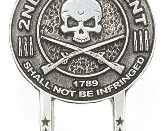 Motorcycle Style Sunglass Holder Pin - 2nd Amendment Right To Keep And Bear Arms
