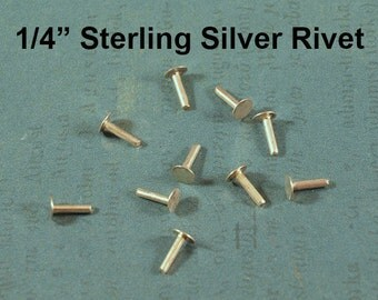 "20 1/4"" 1.3mm Sterling Silver Nail Head Rivets"