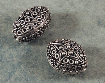 Large Filigree Oval Bead - 20X16X14mm - Sold by the PIECE