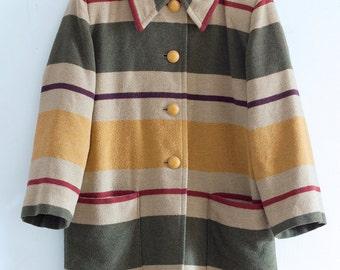 Medium Vintage Striped Coat - Portugal