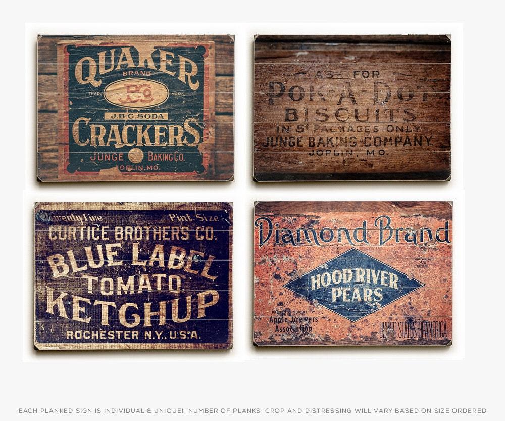 Wood Signs Rustic Kitchen Decor Wood Panel Kitchen Set