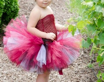 "Marroon, Black and white Tutu  ""Bama Pride""   TUTU ONLY, Newborn Tutu, Baby Tutu, Flower Girl tutu, 1st birthday tutus, birthday tutu"