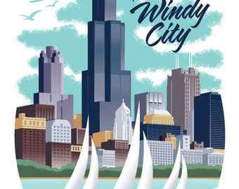 Chicago Poster - Chicago Print - Chicago Wall Art