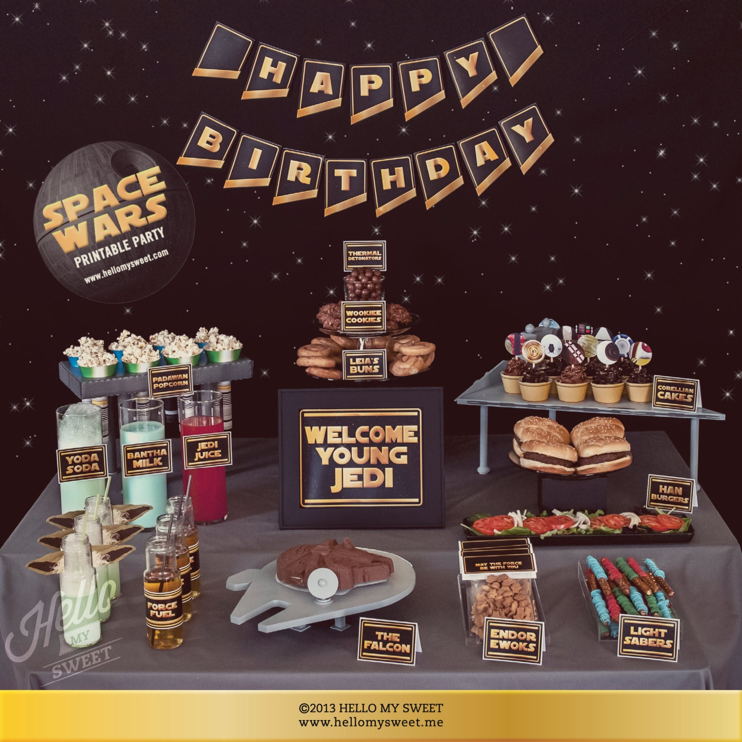 Star Wars Party Set INSTANT DOWNLOAD Birthday Party