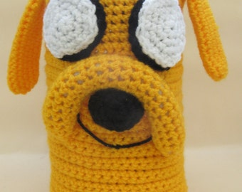 Crochet Jake Adventure Time Cafetiere/French Press/Bodum Coffee Cosy