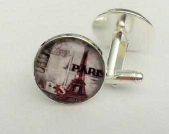 PARIS CUFFLINKS / EIFFEL Tower Cuff Links /  gift for him / Groomsmen Gift / Destination Gift / Travel gift / Gift boxed