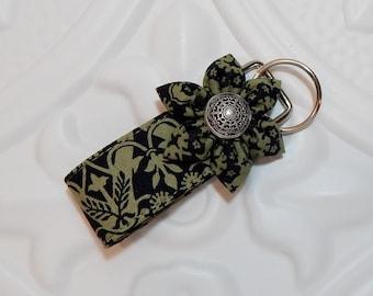 Mini Key Fob - Keychain - Key Fob - Cute Key Fob - Teachers Gifts - Green And Black