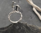 SALE****Wolf sterling silver Twig Ring