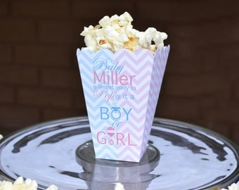 15 Personalized About to Pop Baby Shower Popcorn Boxes-Baby
