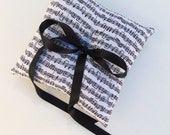 Music Note Ring Bearer Pillow, Sheet Music Ring Bearer, Black and White Ring Bearer Pillow, Music Wedding, Piano, Violin CLASSIC NOTES