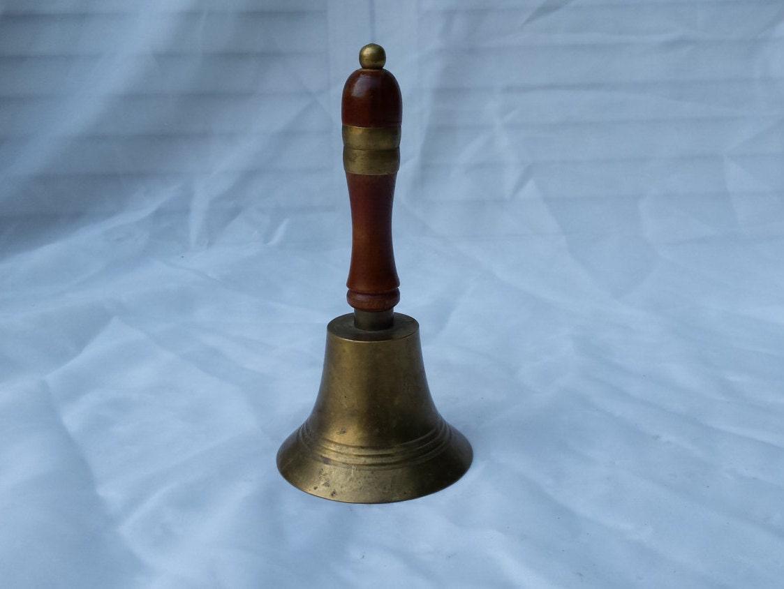 Vintage Brass School Dinner Bell