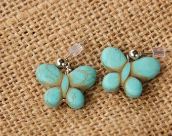 Turquoise Butterfly Earrings.