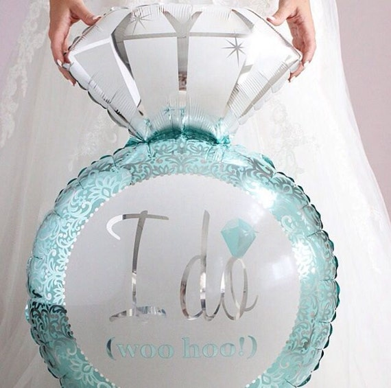 Diamond engagement ring mylar balloon for bridal shower or for Wedding shower balloons