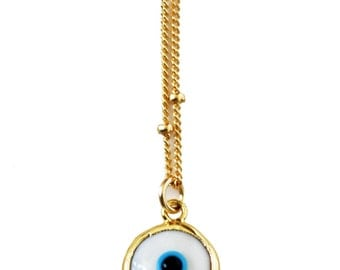 white evil eye necklace