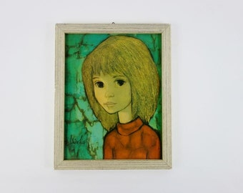 Vintage Framed Print of a Girl From Claire Lier