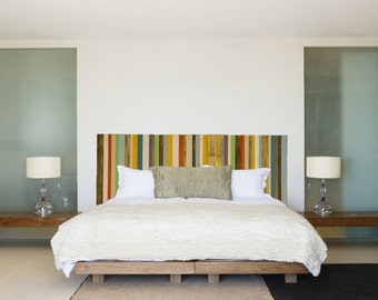 Modern Headboard Reclaimed Wood Furniture, Custom Sizes