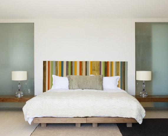 modern headboard reclaimed wood furniture custom sizes