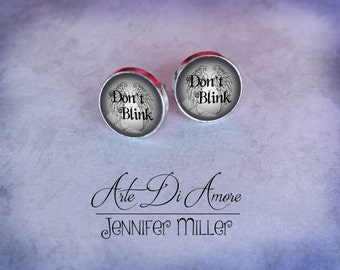 Doctor Who Don't Blink Stud or Dangle Earrings
