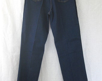 Vintage Jeans, High Waisted, 70s Jeans, Deadstock, Skinny Jeans, VIntage Denim, Dark Rinse, Model Jeans, Tommy's Jeans, Womens Jeans,Disco