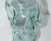 Thick Clear Glass Skull Mannequin Head for Display / Art / Decor / Gothic / Handmade in Spain