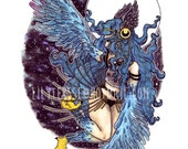 ON SALE Harpy A5 Glossy Art Print