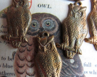Vintage Tiny Owls With Hoops
