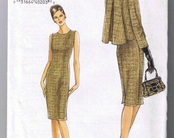 Vogue V8146 Misses Misses Petite Jacket and Dress - Sz 6-8-10-12 UNCUT Factory Folded