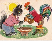 Postcard Drawing by K. Zotov -- 1961, Izogiz Publ. Condition 4/10