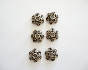 Copper Bead Caps 10mm