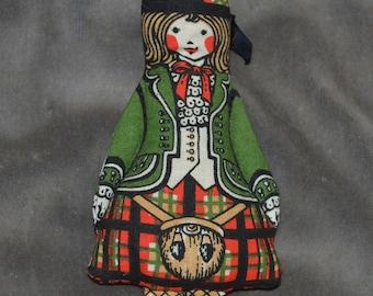 Vintage Scottish Themed Sachet Doll