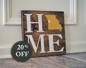 New Home Sign - New Home Housewarming Gift - New Home Decor - New Home Gifts - Personalize Home Sign - Sale - Wedding - State - Wall Hanging
