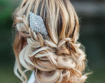 Swarovski Crystal Bridal Hair Comb, Silver Crystal Hair Piece, Bridal Hair Comb, Bridal Hair Accessories, Crystal Wedding Accessories