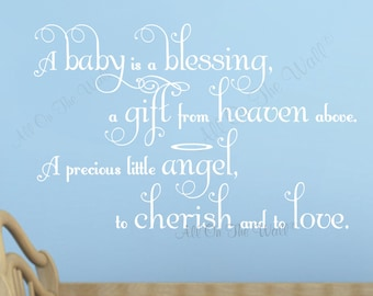Baby Saying Wall Decal Nursery Saying Wall Quote Baby Boy Baby Girl Nursery Decor Vinyl Lettering Nursery Rhyme