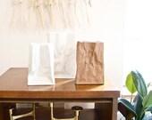 Vintage Paper Bag Vase by Tapio Wirkkala for Rosenthal Studio Linie Germany