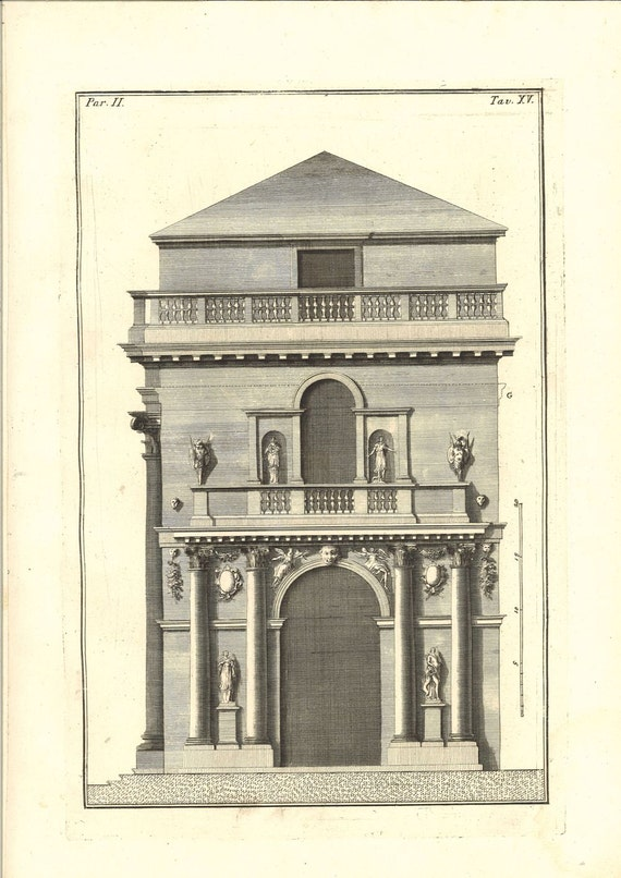 1760 architectural print loggia del capitanio by andrea. Black Bedroom Furniture Sets. Home Design Ideas