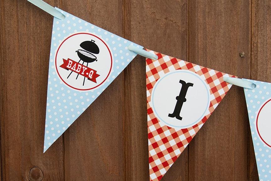 baby q banner bbq baby shower banner it 39 s a boy banner