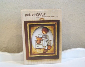 Vintage Kit - Holly Hobbie - 3D Wall Art - Complete - 1960's - Retro Art Kit - Wall Hanging