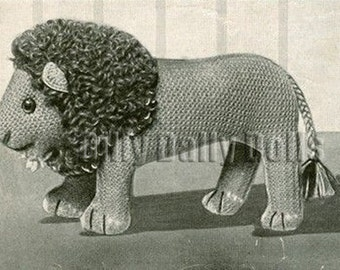 vintage Toy/Animal knitting pattern to make an amazing Lion