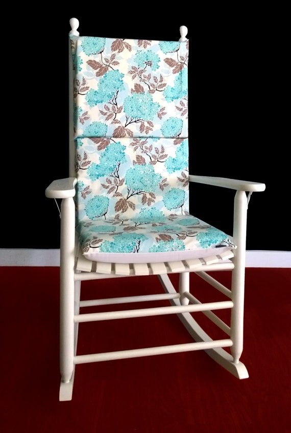 Rocking Chair Cushion Cover - Hydrangea Egg Blue, Ready to Ship