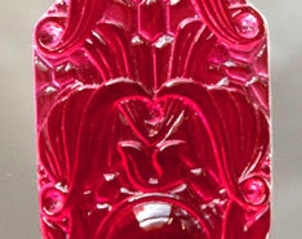 Rose (gold-pink) Medallion Stained Glass Jewel 35mm