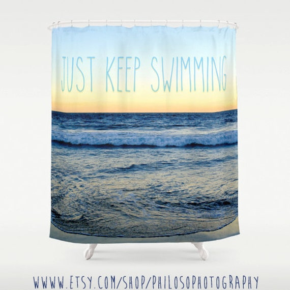 Items similar to finding nemo beach shower curtain ocean ombre movie