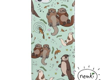 Otter Phone Case, Otter iPhone Case, Cute Otter Case, Otter Samsung Case, Sea Otter iPhone Case, Cute Otter Gifts, For Otter Lovers