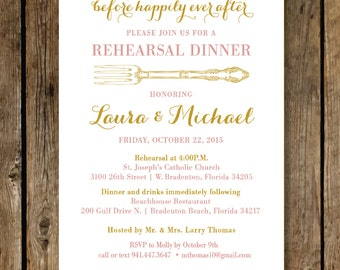 WEDDING REHEARSAL DINNER Invitation / rehearsal dinner 5 X 7 / Digital File / rehearsal printable