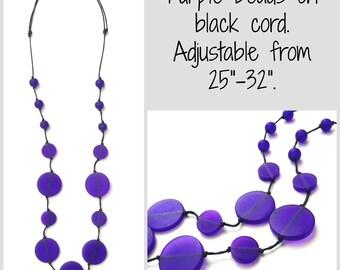 Nursing Necklace Babywearing Necklace - Purple