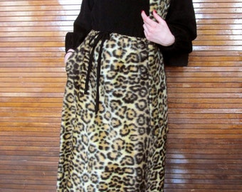 Vintage 1950's Leopard Lounge Dress