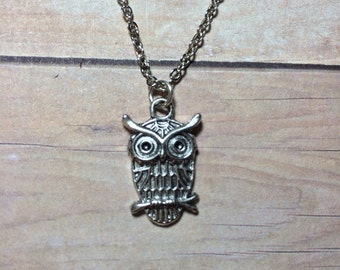 Owl Necklace Silver Bird Necklace Mothers Day Gift Friendship Gift Birthday