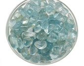 "2 BLUE TOPAZ Tumbled Stone Small .50"" Stone All Natural Crystal Jewelry Craft, Healing Crystals and Stones Set  #S1"