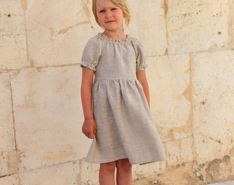 Girls peasant dress Linen dress Baby dress Summer dress Dress for Girl Baby dress Custom sizes